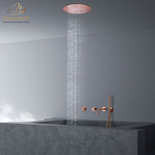 Red Moon Complete Shower Set Copper