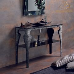 Spark Luxury Crystal Black Bathroom Console