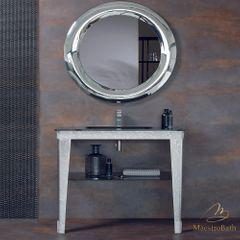 Spark Luxury Crystal Silver Bathroom Console
