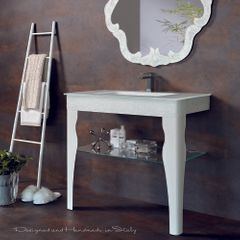 Spark Luxury Crystal White Bathroom Console
