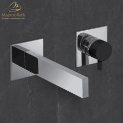 Ultra Modern Two Hole Bathroom Faucet | Polished Chrome