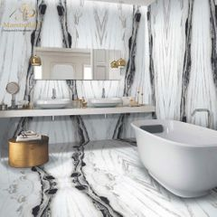 Zebra Luxury Tile | Black and White