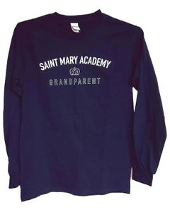 SMA Grandparents LS Tee; Navy