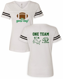 SMA Athletics GAME DAY Design Ladies Football V-neck Jersey