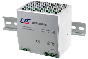DRP-240-48, Input 85-264VAC,Output 48VDC, 5Amps, 240W