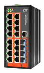 IFS-1604GSM, Managed 16 FE + 4 SFP Switch