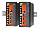 IFS-803GSM, Managed Industrial Switch with 8 FE + 3 SFP Ports