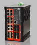 IGS-1608SM-8PH, Managed 16-Port GbE + 8 SFP PoE Switch