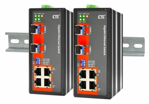 IGS-402S, Non-managed Switch with 4 Gigabit + 2 SFP Ports
