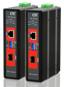IMC-1000S-E, Unmanaged Gigabit Industrial Converter with SFP Slot