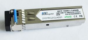 ISFP-155M-LC40WB, Rugged SFP Module for 155M WDM T1550/R1310 and 40Km