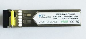 ISFP-BX-LC10WB, Rugged SFP Module for 1.25G WDM T1550/R1310 and 10Km