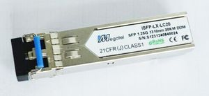 ISFP-LX-LC20, Industrial Rugged SFP Module for 1.25G SM 1310nm and 20Km