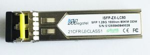 ISFP-ZX-LC80, Rugged SFP Module for 1.25G SM 1550nm and 80Km