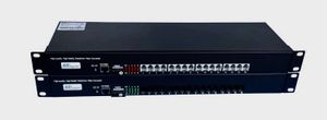 MC-FXO-16 and MC-FXS-16, 16 Channel POTS Over Fiber Converter + one Fast Ethernet Port