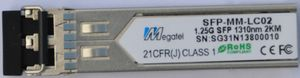 SFP-MM-LC02, MM, LC, Up to 2Km