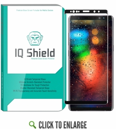 [1-Pack] IQ Shield® Tempered Glass – Galaxy Note 9 Glass Screen Protector (3D Glass [Black])