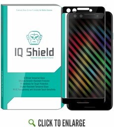[1-Pack] IQ Shield® Tempered Glass – Google Pixel 3 Glass Screen Protector (3D Glass - Black)