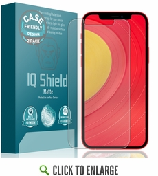 (2-Pack) Apple iPhone 12 Matte (Case Friendly) Screen Protector (6.1 inch)