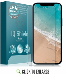 (2-Pack) Apple iPhone 12 Pro Max Matte (Case Friendly) Screen Protector (6.7 inch)