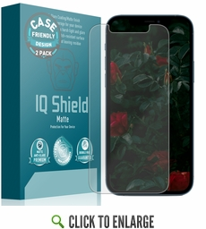 (2-Pack) Apple iPhone Pro 12 Matte (Case Friendly) Screen Protector (6.1 inch)