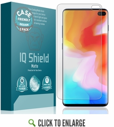 (2-Pack) Samsung Galaxy S10 Plus Matte (Case Friendly, Version 2) Screen Protector (6.4)