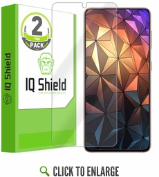 (2-Pack) Samsung Galaxy S21 Plus LiQuid Shield (Max Coverage) Screen Protector (6.7 inch, S21+)[Works with Fingerprint Scanner]