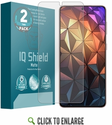 (2-Pack) Samsung Galaxy S21 Plus Matte (Max Coverage) Screen Protector (6.7 inch, S21+)[Works with Fingerprint Scanner]