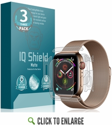 [3-Pack] Apple Watch Series 5 Matte Full Body Skin Protector (40mm)(Compatible w/ Apple Watch Series 6)