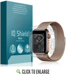 [3-Pack] Apple Watch Series 5 Matte Full Body Skin Protector (44mm)(Compatible w/ Apple Watch Series 6)