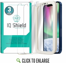 [3-Pack] IQ Shield® Tempered Glass – Apple  iPhone 12 Glass Screen Protector (6.1 inch) compatible with Apple iPhone 12 Pro