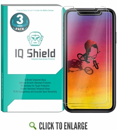 [3-Pack] IQ Shield® Tempered Glass – Apple iPhone XR Glass Screen Protector (6.1