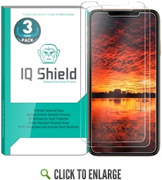 [3-Pack] IQ Shield® Tempered Glass – Apple iPhone XS Glass Screen Protector (5.8