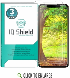 [3-Pack] IQ Shield® Tempered Glass – Apple iPhone XS Max Glass Screen Protector (6.5