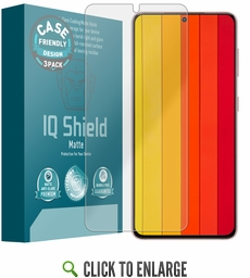(3-Pack) Samsung Galaxy S21 Matte (Case Friendly) Screen Protector (6.2 inch)[Works with Fingerprint Scanner]