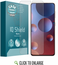 (3-Pack) Samsung Galaxy S21 Plus Matte (Case Friendly) Screen Protector (6.7 inch, S21+)[Works with Fingerprint Scanner]