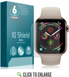 (6-Pack) Apple Watch Series 5 Matte Screen Protector (40mm)(Compatible w/ Apple Watch Series 6)