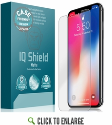 Apple iPhone XS Max Matte Screen Protector (Case Friendly)(2-Pack)(6.5