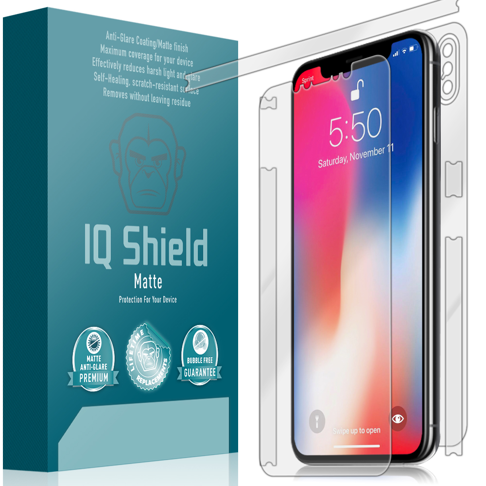 sports shoes bc811 9a7b4 Apple iPhone XS Max Matte Full Body Skin Protector (6.5