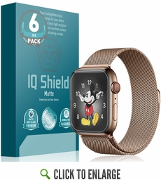 Apple Watch Series 4 Matte Screen Protector 6-Pack (40mm)[Easy Install]