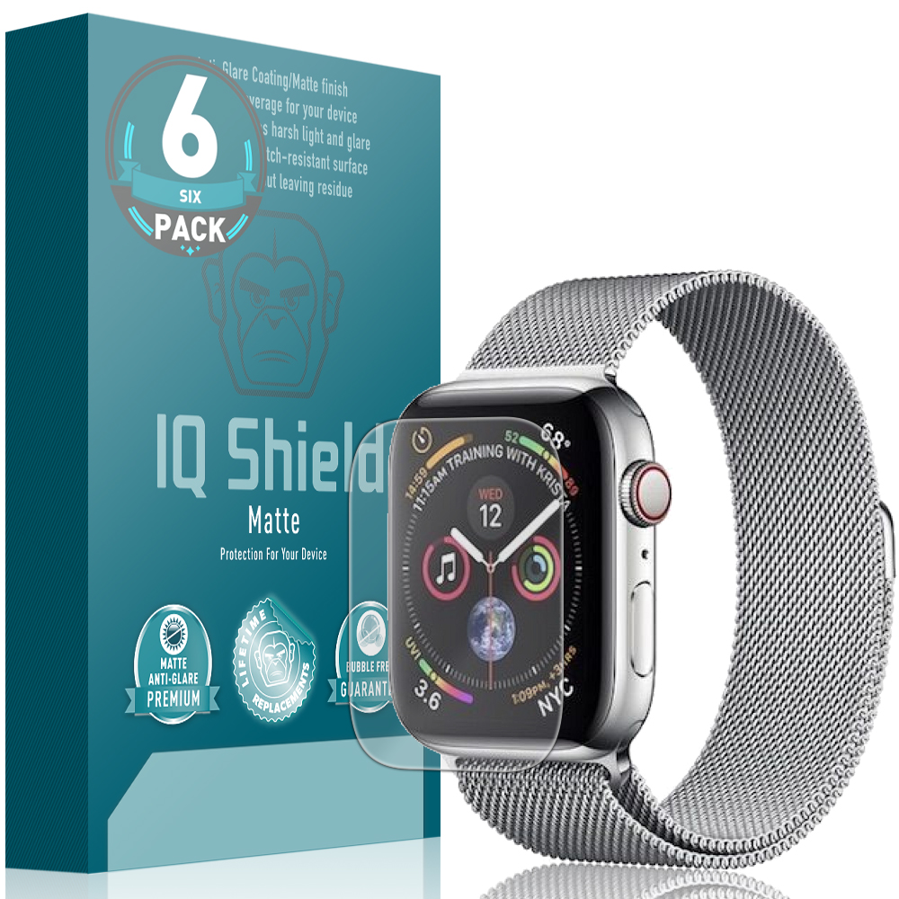 low cost c244a f0d6a Apple Watch Series 4 Matte Screen Protector 6-Pack (40mm)(Max Coverage)