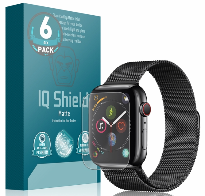 best sneakers 3578b b70b1 IQ Shield Matte - Apple Watch Series 4 Screen Protector (44mm, Edge ...