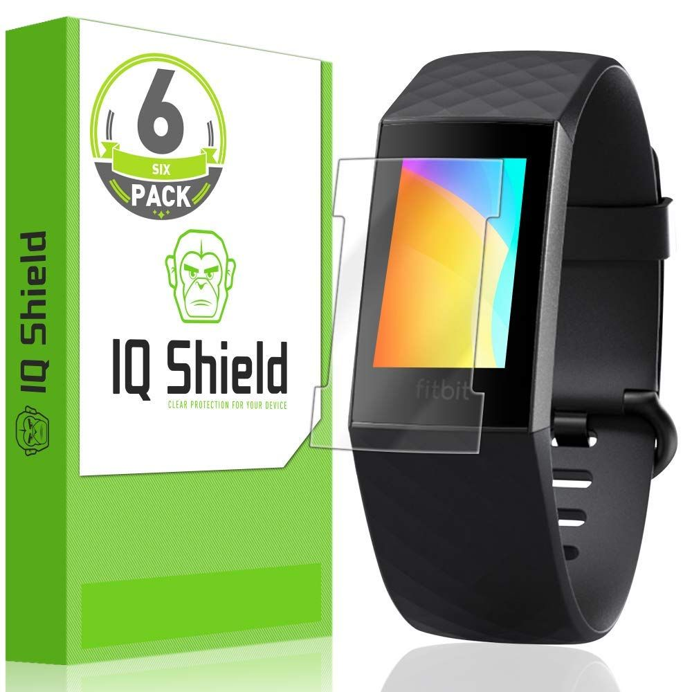 Fitbit Charge 3 LiQuid Shield Screen Protector (Version 2)[Compatible with  Charger][6-Pack]