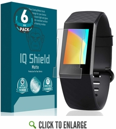 Fitbit Charge 3 Matte Screen Protector  (Version 2)[Compatible with Charger][6-Pack]