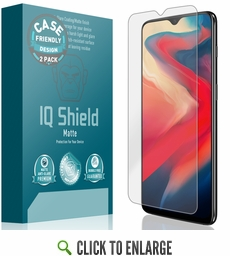 OnePlus 6T Matte Screen Protector [Case Friendly][2-Pack]