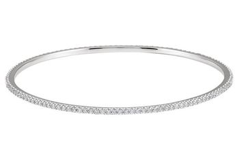 2 CARAT DIAMOND STACKABLE BANGLE BRACELET IN 14K WHITE GOLD