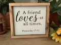 A Friend Loves At All Times Christian Wall Decor