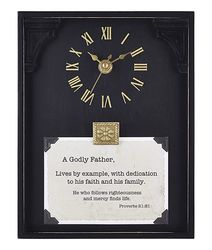 A Godly Father Framed Table Clock