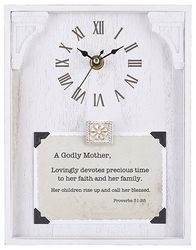 A Godly Mother Framed Table Clock