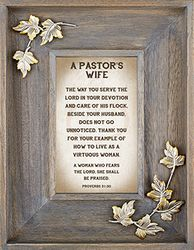 A Pastor's Wife Framed Tabletop Christian Verses